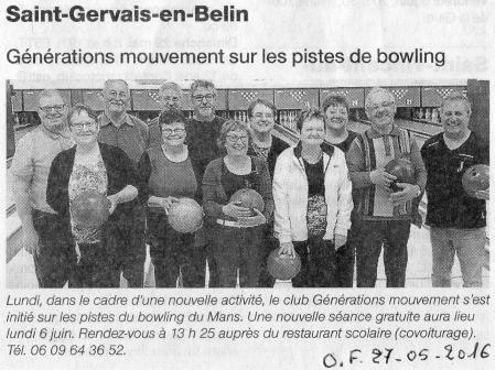 Bowling initiation